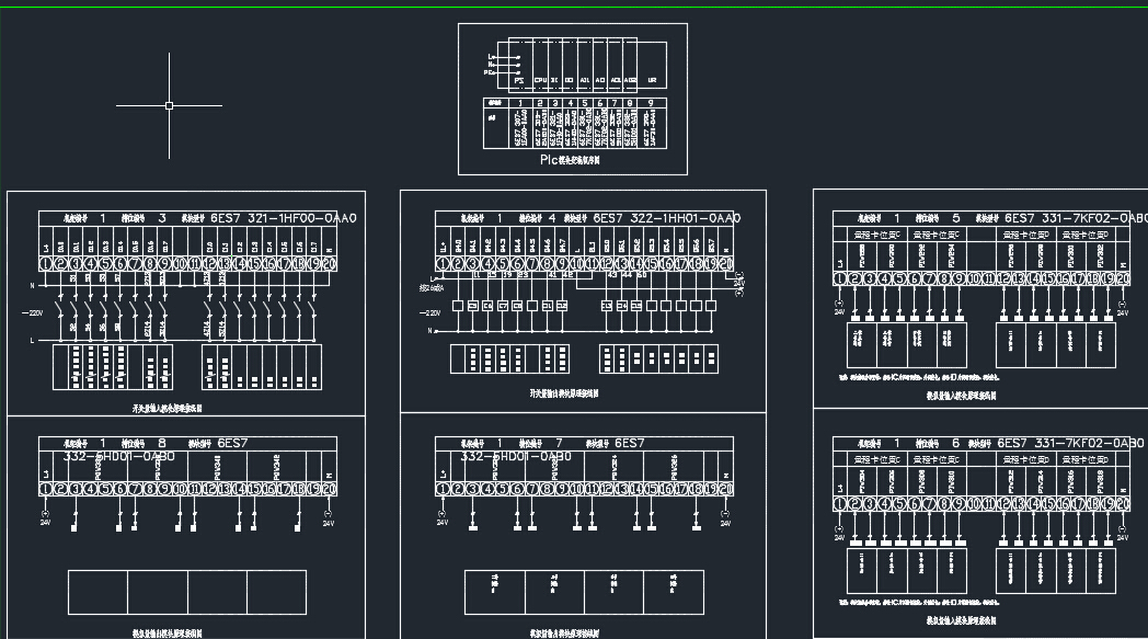 西门子plc接线图全套dwg下载