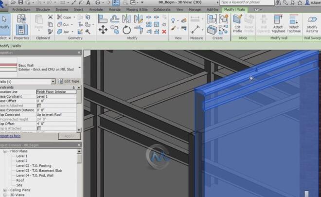 Revit建筑模板制作训练视频教程