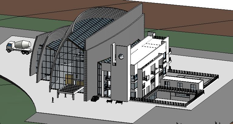 罗马千禧教堂revit模型下载