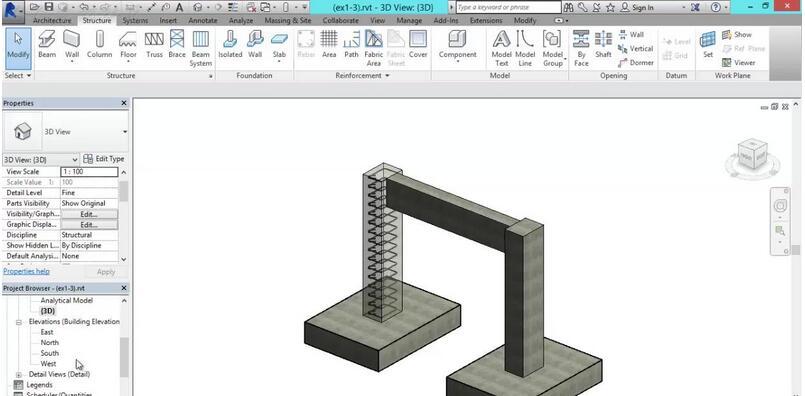 revit structure建筑结构建模基础视频教程—腿腿教学