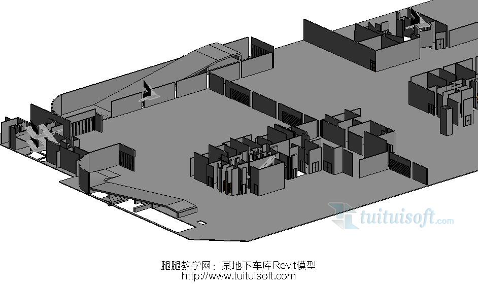 某地下车库revit模型全套建筑